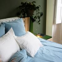 Funda almohada 65x65 azul topaz