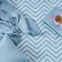 Manta blue de algodón orgánico