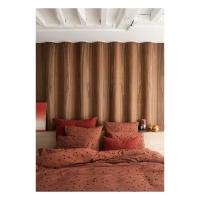 Funda nórdica 140x200 de algodón orgánico Odette cobre