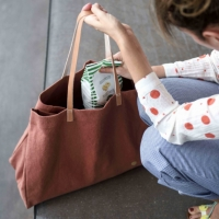 Shopping bag Iona Rhubarbe