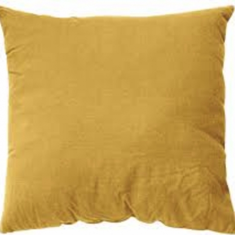 Funda de almohada 65x65 lino curry