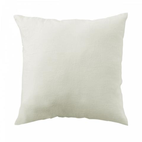 Funda almohada lino 65x65 blanco marfil