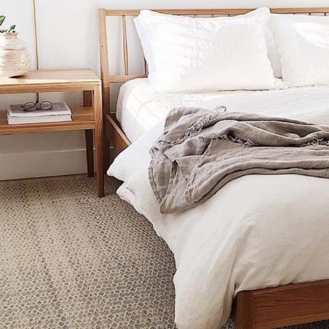 Funda almohada lino 50x70 blanco marfil