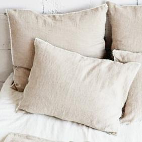Funda almohada lino 50x70 ficelle