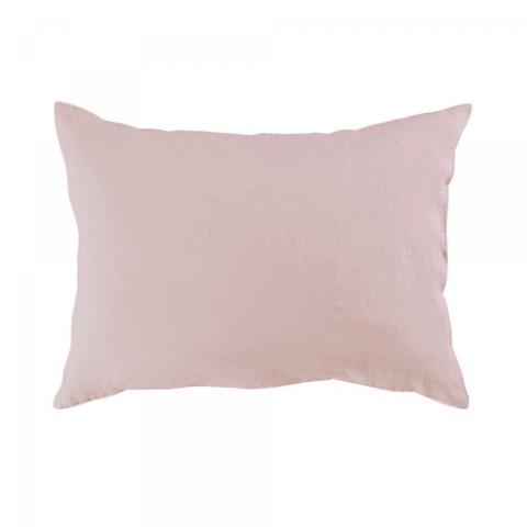 Funda almohada lino 50x70 rosa