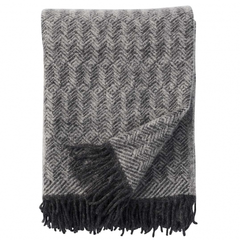 Manta lana Tage gris