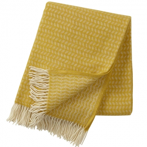Manta lana merino Leaf Amarillo