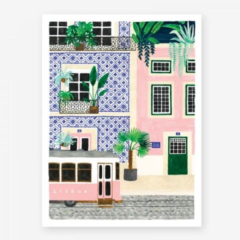Lámina Lisboa Pequeña 18x24