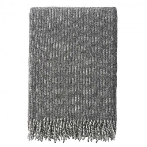 Manta lana Shimmer gris oscuro