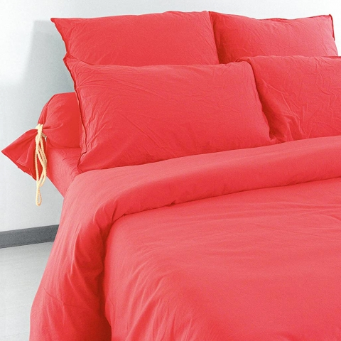 Funda almohada Lino 50x70 Cranberry
