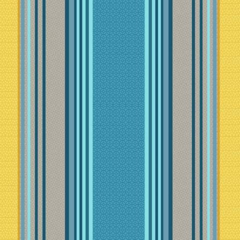 Tela semi-plastificada rayas azules