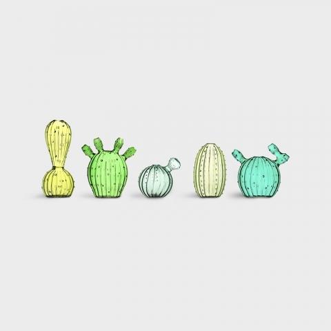 Jarrón cactus pequeño