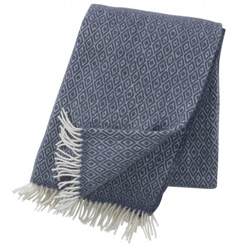 Manta lana Stella blue