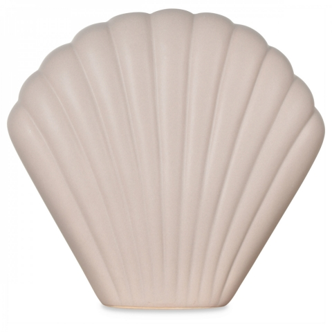 jarrón de cerámica Coki gris (L.20xP.7xD.18cm)