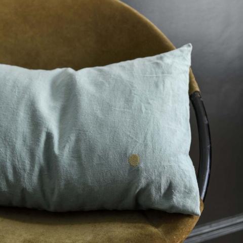 Funda de cojín mona celadon
