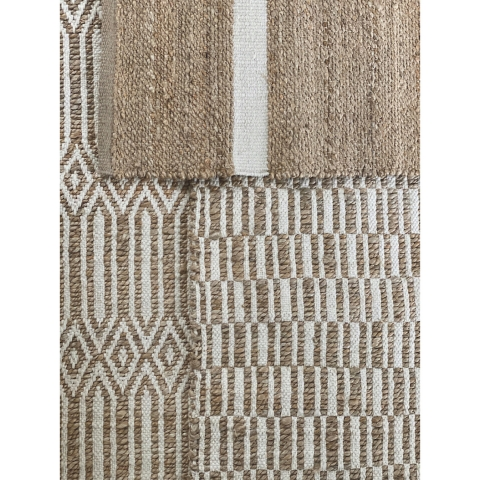 Alfombra Berber 160x230 minimalista blanco y beige