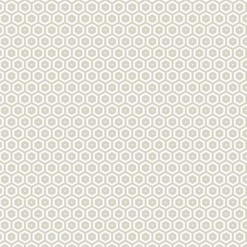 Tela semi-plastificada bees beige