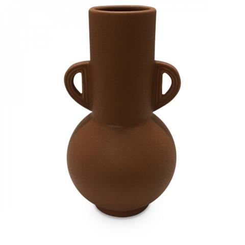 Jarrón cerámica Titi terracota (D.15xH.27cm)