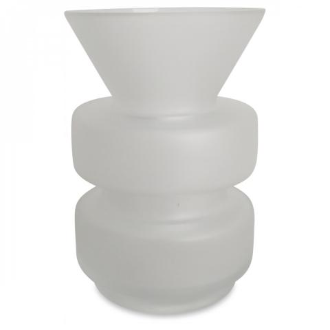 jarrón Enton blanc satinado (D.9xH.14cm)