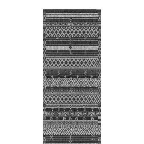 Alfombra vinilo 50x120 ethnic black
