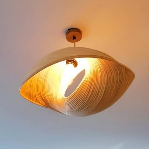 Lámpara de techo concha con