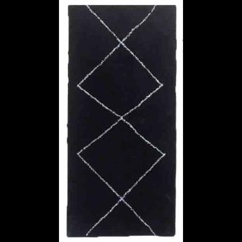Alfombra 120x170 cm estilo bereber negro