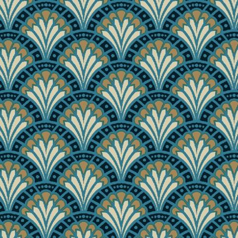 Tela semi-plastificada dimitri azul