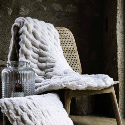 Cubre cama Zibeline blanco 150x200cm