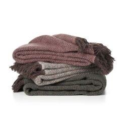 Manta lana Reciclada Wave brown