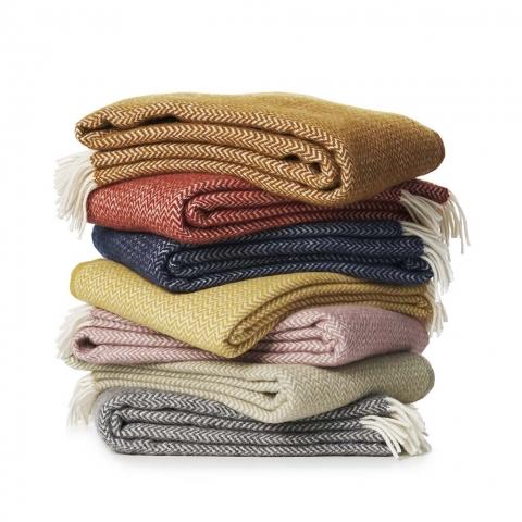 Manta lana Chevron grey