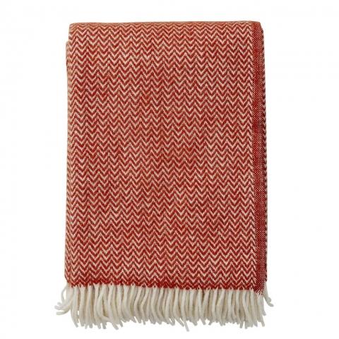 Manta lana Chevron ruby-red
