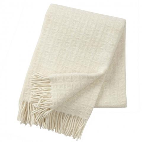 Manta lana ECO Twist white