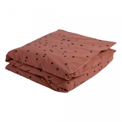 Funda nórdica 220x240 de algodón orgánico Odette cobre
