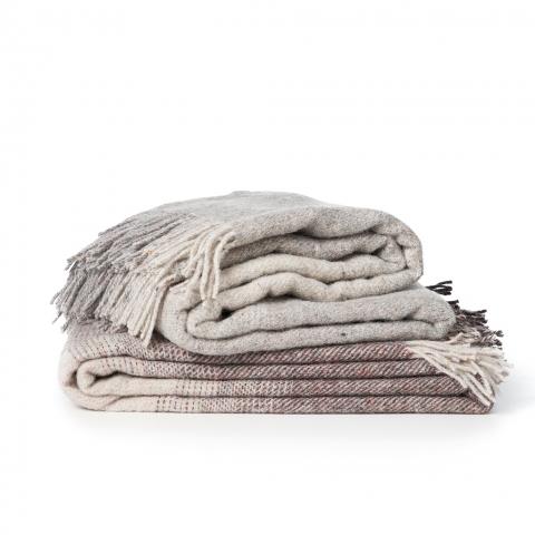 Manta lana Reciclada Burst brown