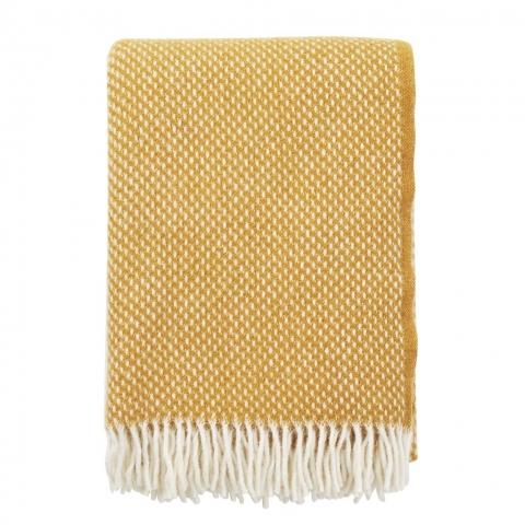 Manta lana Preppy mustard