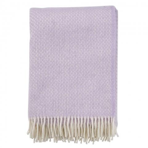 Manta lana Preppy lilac