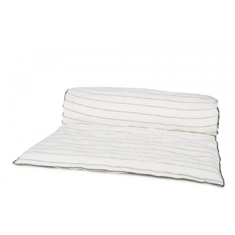 Pie de cama lino rayas