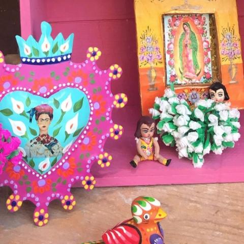 Corazón florido Frida