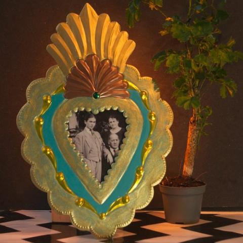 Corazón Antigua turquesa